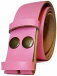 35mm Pink Snap Fit Leather Belt